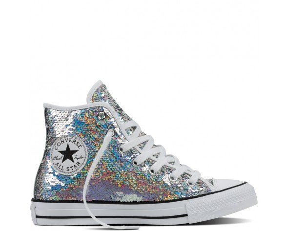 Zapatillas Converse para mujer chuck taylor all star holiday party silver/blanco/negero_179