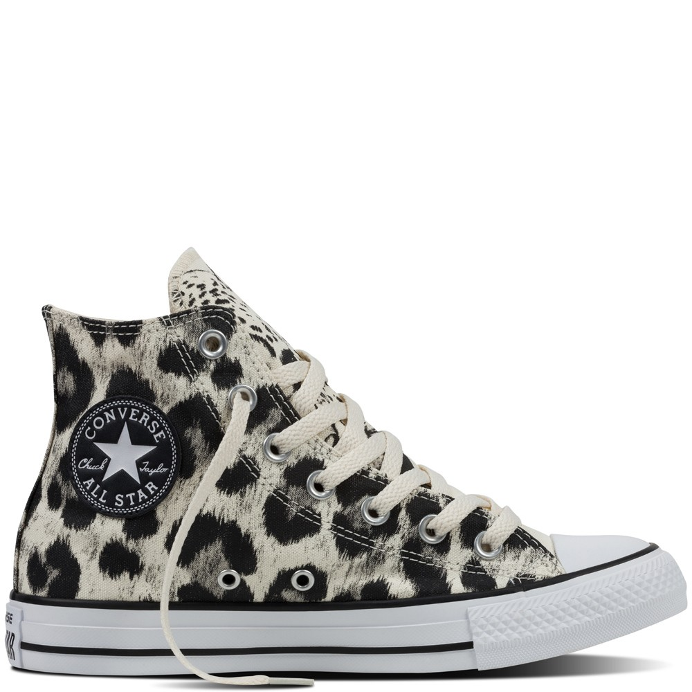 Chuck Taylor All Star Beige Animal Print Suede Trainers