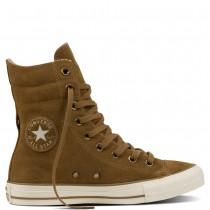 Zapatillas Converse para mujer chuck taylor all star high-rise shearling sand dune/sand dune/egre_011