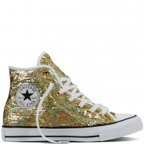 Zapatillas Converse para mujer chuck taylor all star holiday party gold/blanco/negero_180