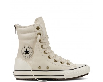 Zapatillas Converse para mujer chuck taylor all star high-rise leather parchment/negero/egret_010