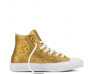 Zapatillas Converse para mujer chuck ii perforated metallic gold/blanco/blanco_031