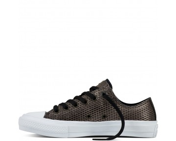 Zapatillas Converse para mujer chuck ii perforated metallic negero/blanco_032