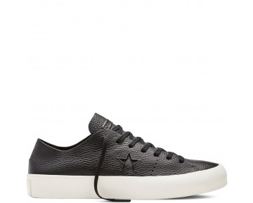 Zapatillas Converse para mujer cons one star prime leather negero/negero/egret_020