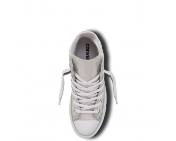Zapatillas Converse para mujer chuck taylor all star sting ray metallic leather pure silver/negero/blanco_210