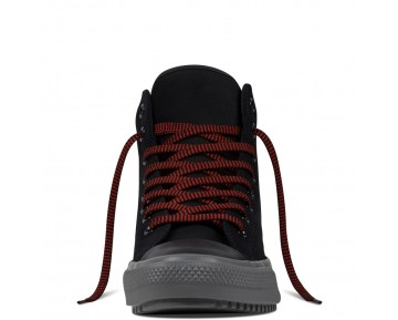 Zapatillas Converse para mujer chuck taylor all star converse boot pc leather negero/charcoal grey/signal rojo_006