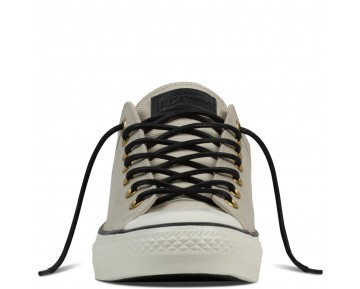 Zapatillas Converse para mujer chuck taylor all star leather 85,00 € frayed burlap/egret/negero_186