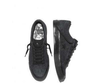 Zapatillas Converse para mujer cons one star x stussy negero_030