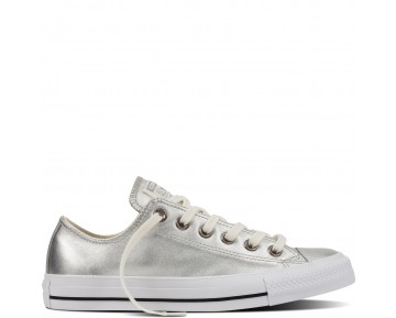 Zapatillas Converse para mujer chuck taylor all star metallic pure silver/blanco_093
