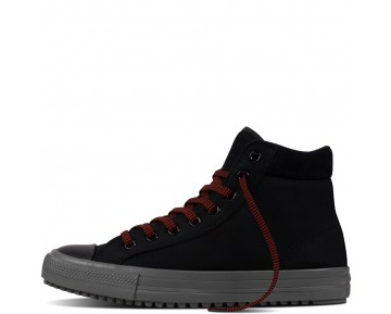 Zapatillas Converse para hombre chuck taylor all star converse boot pc leather negero/charcoal grey/signal rojo_007