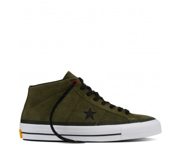 Zapatillas Converse para hombre cons one star pro suede herbal/negero/blanco_026